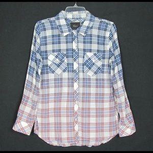 Rails multi colored ombre button down shirt sz M